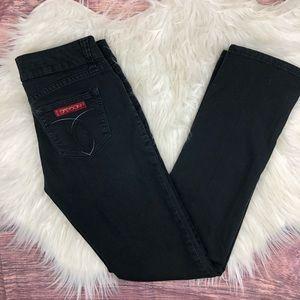 Sasson Black Straight Leg Hustle Skinny Jeans